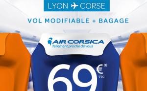 Lyon-Corse, Vol + Bagage à 69 € l'aller avec Air Corsica